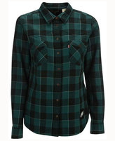 Levi's Women's Philadelphia Eagles Plaid Button Up Woven Shirt