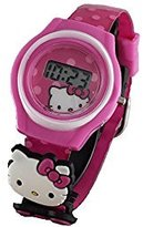 SANRIO Hello Kitty Little Girl's Digital Watch with 2 Charms HK3002