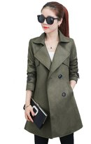 NXL Women's Spring And Autumn Suede Coat Long Coat Coat,-L