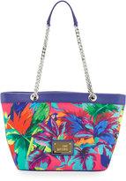 Love Moschino Jungle Canvas Shoulder Bag, Fuchsia
