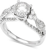 Macy's Diamond Openwork Engagement Ring (1-1/3 ct. t.w.) in 14k White Gold