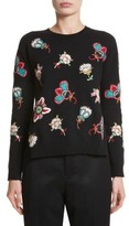 Valentino Garavani Women's Valentino Floral Embroidered Wool Sweater