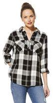 F&F Checked Zip Neck Shirt, Women's