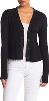 CODEXMODE Rib Knit Button Front Cardigan (Petite)