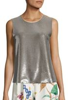 Diane von Furstenberg Sleeveless Sequin Shell Top