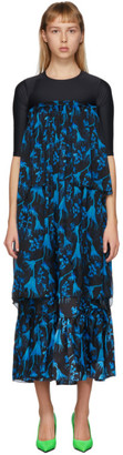 Marine Serre Blue Radioactive Flower Hybrid Dress