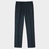 Paul Smith Men's Slim-Fit Grey Mini-Check Wool Trousers