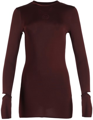 Marine Serre Fitted Long Top With Cutout Sleeves