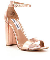 Steve Madden Carrson Metallic Banded Ankle Strap Block Heel Sandals