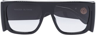 Linda Farrow X Magda Butrym All Eyes On Me oversized -frame chain sunglasses