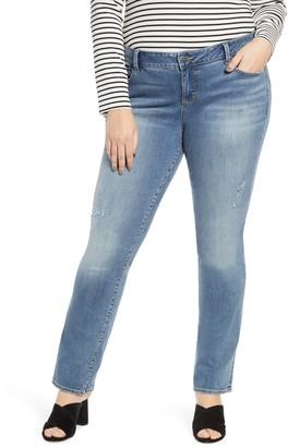 SLINK Jeans Mid Rise Straight Leg