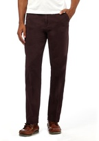 Maine New England Big And Tall Purple Tailored Fit Chinos