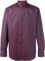 Canali woven pattern shirt - men - Cotton - 38