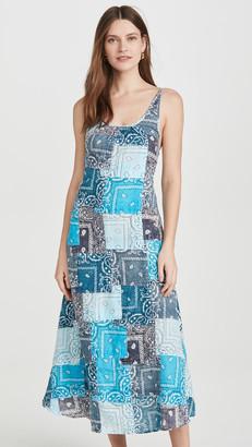 Riley Partchwork Long Dress