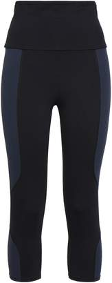 Live The Process Cropped Two-tone Stretch Leggings