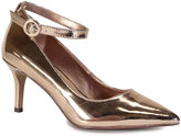 Bamboo Rose Gold Ankle-Strap Prevail Pump
