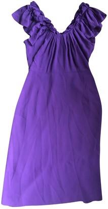 Christian Dior Purple Silk Dresses