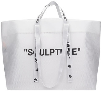 Off-White Commercial Tote Tote In White Fabric