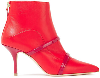 Malone Souliers Madison 70 Textured And Patent-leather Ankle Boots