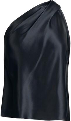 Mason by Michelle Mason One-Shoulder Silk Top