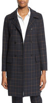 Theory Abla Tile-Check Double-Breasted Coat