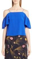 Fendi Women's Silk Off The Shoulder Top