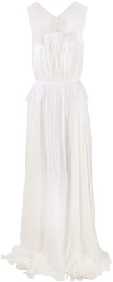 Maria Lucia Hohan Arabella lace-embellished silk gown