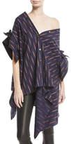 Palmer Harding palmer//harding Jasmin Asymmetric Button-Down Oversized Cotton Shirt