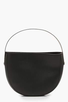 boohoo Metal Handle Half Moon Clutch Bag