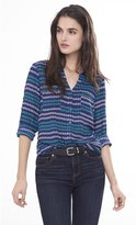 Express Anchor Stripe Print Portofino Shirt