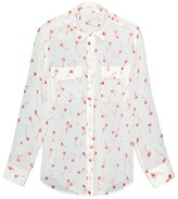 Thumbnail for your product : Equipment Signature Cherry-Print Silk Top