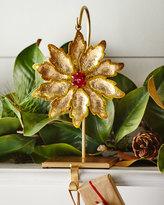 Janice Minor Flower/Golden Glitter Stocking Holder