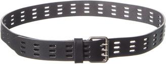 Saint Laurent Perforated Biker Leather Belt