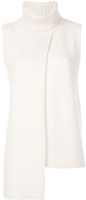 Cashmere In Love cashmere Tania turtleneck sleeveless top