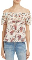 Aqua Floral Cropped Off-the-Shoulder Top - 100% Exclusive