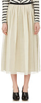 Pas De Calais Women's Gathered Cotton-Silk Organza Midi-Skirt