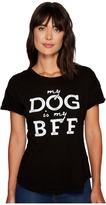 The Original Retro Brand My Dog Is My BFF Rolled Short Sleeve Crew Neck Tee
