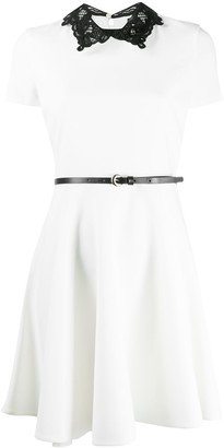Ermanno Ermanno Belted Skater Dress