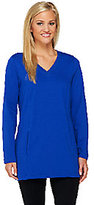 Denim & Co. As Is Active French Terry Tunic with Stitch Detail