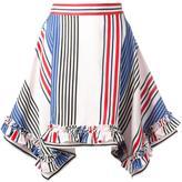 MSGM pointy striped skirt