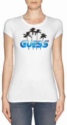 GUESS Short Sleeve Palm Tree R3 Tee