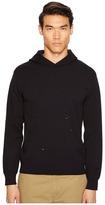 Vince Distressed Long Sleeve Hoodie Men's Sweatshirt