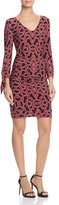 Laundry by Shelli Segal Printed Tie Sleeve Dress