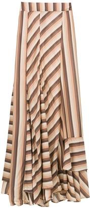 AMIR SLAMA Striped Long Skirt