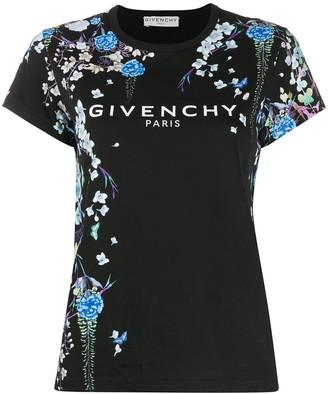 Givenchy floral-print logo T-shirt