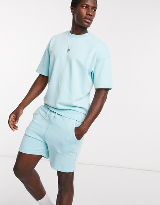 Jack and Jones Originals co-ord short sleeve sweat in washed mint