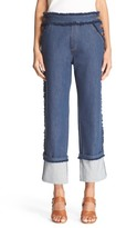 See by Chloe Frayed Crop Jeans (Indigo)
