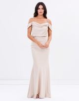 Winter Rose Drape Gown