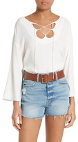 Frame Women's Lace-Up Blouse