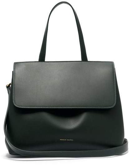 Mansur Gavriel Mini Lady Leather Cross Body Bag - Womens - Dark Green